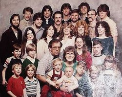 Russell and Gayle Robinson family in happier days.