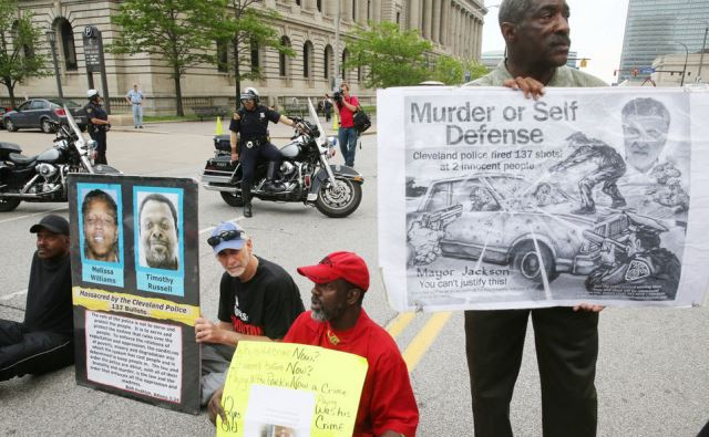 Protesters occupied streets in front of Cuyahoga County courthouse, for over a week before today's verdict.