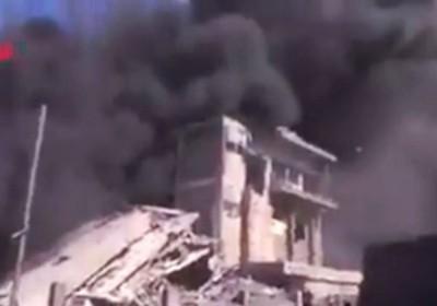 Russian air strike in Syria.
