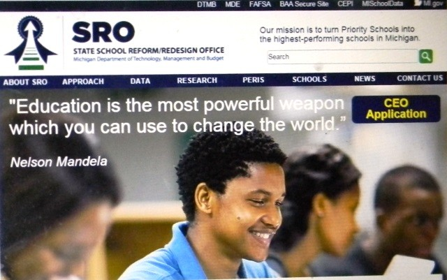 Michigan School Reform/Redesign Office website, now in Dept. of Management and Budget.