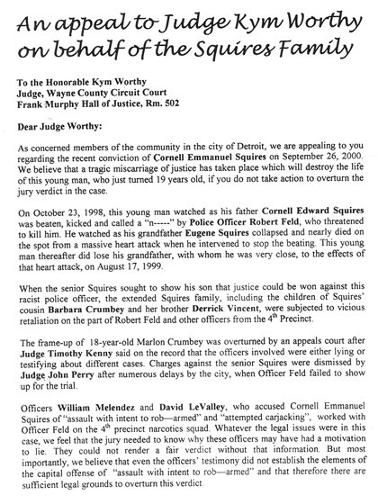 Squires letter