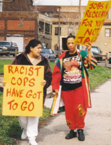 Some of the others who marched on the 4th precinct in 2000.