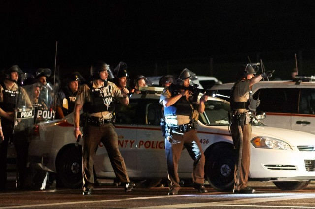 St. Louis County police were part of large contingent called to Ferguson.