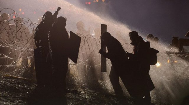Standing Rock protesters under attack