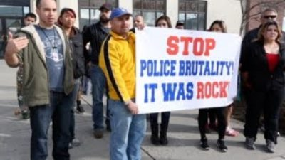 Protest in police killing of Antonio Montes.