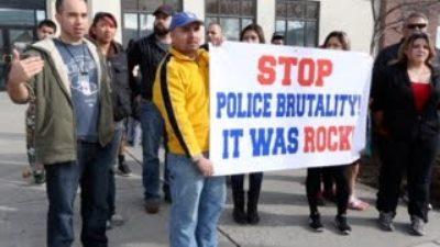 Protest in police killing of Antonio Montes.
