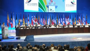 Summit of the Americas involves primarily members of the Organization of American States (OAS), which suspended Cuba from participation in 1962.
