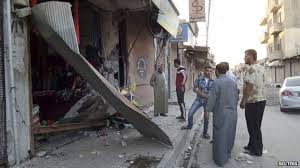 Store in Syria destroyed by drone in wave of attacks.
