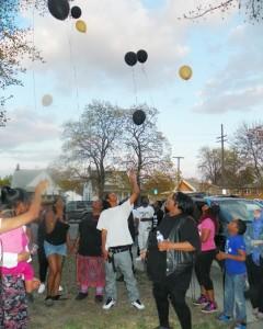 TK vigil balloons