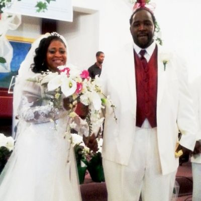 Taminko Sanford and Jermaine Tilmon are married in a fairyland wedding.
