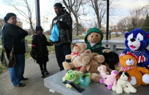 Memorial for Tamir Rice at park where he was killed.