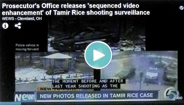 Still frame from enhanced video prosecutors have developed, attempting to show Tamir Rice's killing was justified.