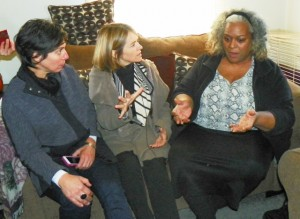 Rapporteurs speak with Rochelle McCaskill in her home.