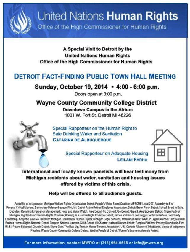 UN water meeting Detroit
