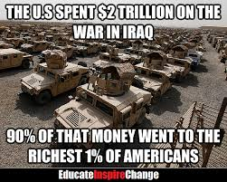 U.S. spending on last war in Iraq: Money for homes, jobs, schools, hospitals, services in U.S.