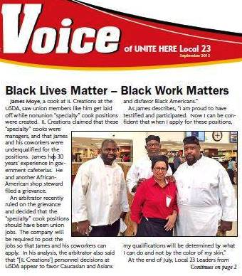 Unite HERE Local 23 workers newspaper.
