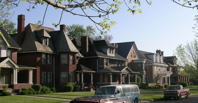 Homes in Virginia Park Historic District neighborhood.