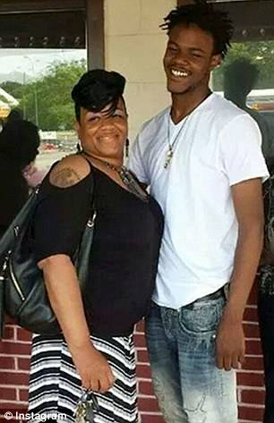 Vonderrit Myers with his mother