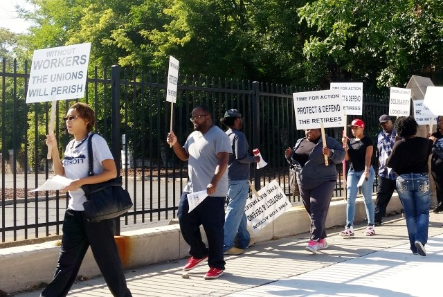VOTE NO march at Detroit's Jefferson Assembly Plant