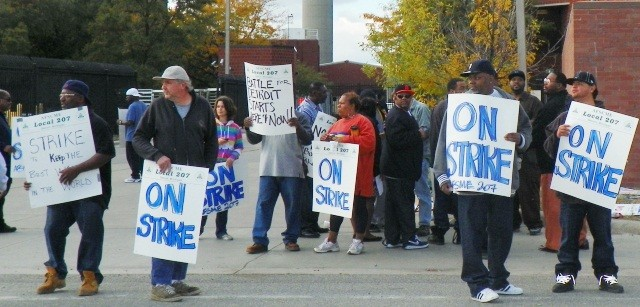 Heroic Detroit Wastewater Treatment Plant workers strike Sept. 30, 2012.