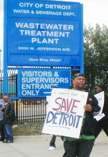 Wastewater Treatment Plant worker on strike Sept. 30, 2012 in heroic, last-ditch effort to SAVE DETROIT>