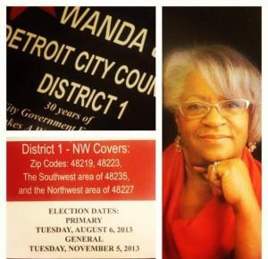 Wanda Hill during earlier run for City Council.