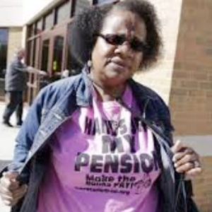 Yvonne Williams-Jones, DAREA officer, attended protest.