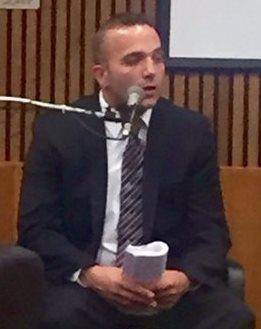 Auxiliary Inkster cop John Zielenewski testifies at trial.