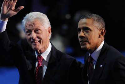 Bill Clinton and Barack Obama at Democratic National Convention,