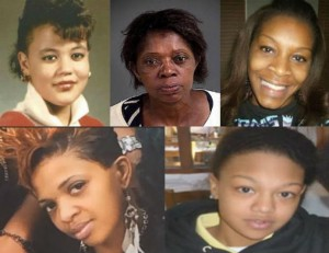 At least 5 Black women died in their jail cells nationally in July: Top row: Raynette Turner; Joyce Curnell; Sandra Bland. Bottom row: Ralkina Jones; Kindra Chapman.