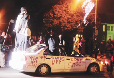 Ferguson youth take it to the streets during #FergusonOctober. Photo: Final Call
