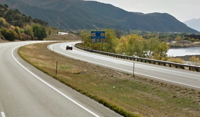 Interstate 70 by Glenwood Springs, Colorado.