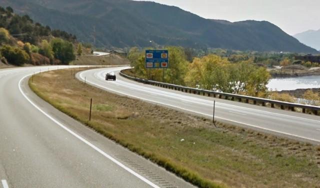 Interstate 70 by Glenwood Springs, Colorado.