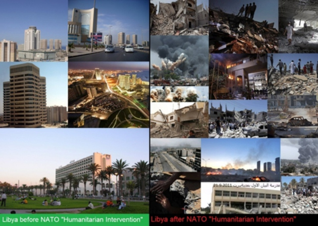 Libya before U.S.-NATO war; after in 2012.