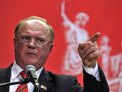 Russian Communist Party leader Gennady Zyuganov. (AFP photo/Andrey Smirnov)